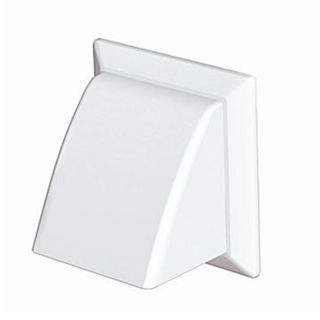 Picture of Modular Ducting 100mm Cowl/Damper Round Spigot White Outlet 4902W