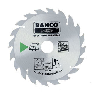 Picture of Bahco Circular Saw Blade 190mm x 30 x 20T 8501-15-30