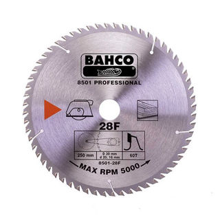 Picture of Bahco Circular Saw Blade 250mm x 30 x 40T 8501-28F