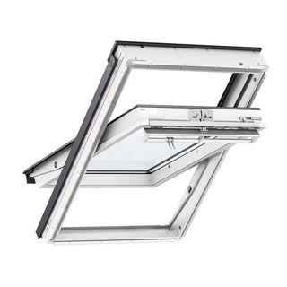 VELUX White Polyurethane Centre Pivot Triple Glazed Roof Window 0062