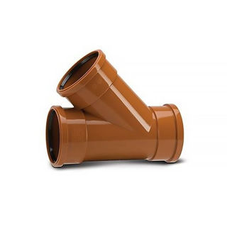 Picture of Polypipe 160mm 45 Degree TS Y Branch UG605