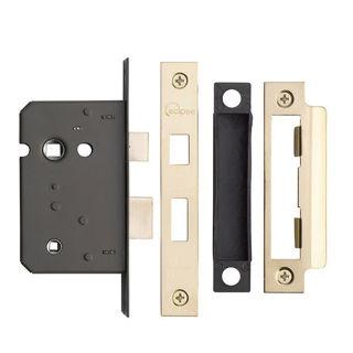 Bath Lock Electro Brass 3 Lever 63mm