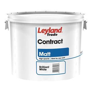 Leyland Contract Emulsion Matt Paint 10Lt Brilliant White