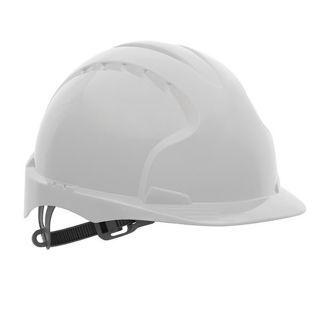 Safety Helmet with Adjustable Harness White Murdock Builders Merchants