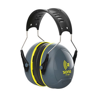 Sonis 2 Ear Defender SNR31 Yellow Murdock Builders Merchants