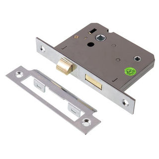 """Picture of Bathroom Lock Nickel Plated 75mm (3"""") (Pre-Packed)"""