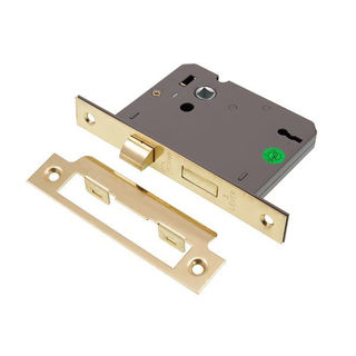 """Picture of 3 Lever Sashlock Electro Brass 75mm (3"""") (Pre-Packed)"""