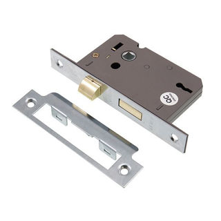 """Picture of 3 Lever Sashlock Nickel Plated 63mm (2.5"""")"""