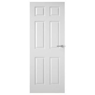 White 6 Panel Textured Half Hour Fire Check FD30 Door 44mm Murdock Builders Merchants