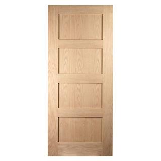 White Oak Lacquered 4 Panel Shaker Door 40mm