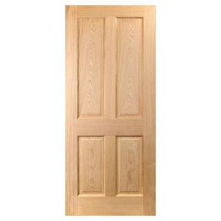 White Oak Lacquered 4 Panel Door 40mm