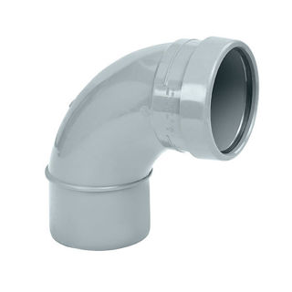 MFP 110mm Soil 87.5 Degree Single Socket Bend Grey