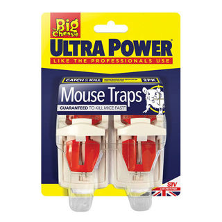 Big Cheese Mouse Trap Ultra Power 2 Pack