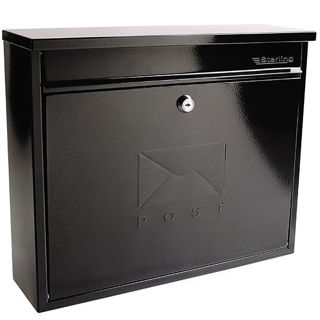 Sterling Elegance Black Post Box